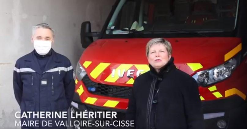 Interview Sapeur-pompier pour la Sainte-Barbe 2020 à Valloire-sur-Cisse