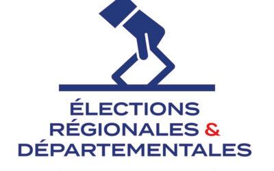 Information élections régionales et départementales